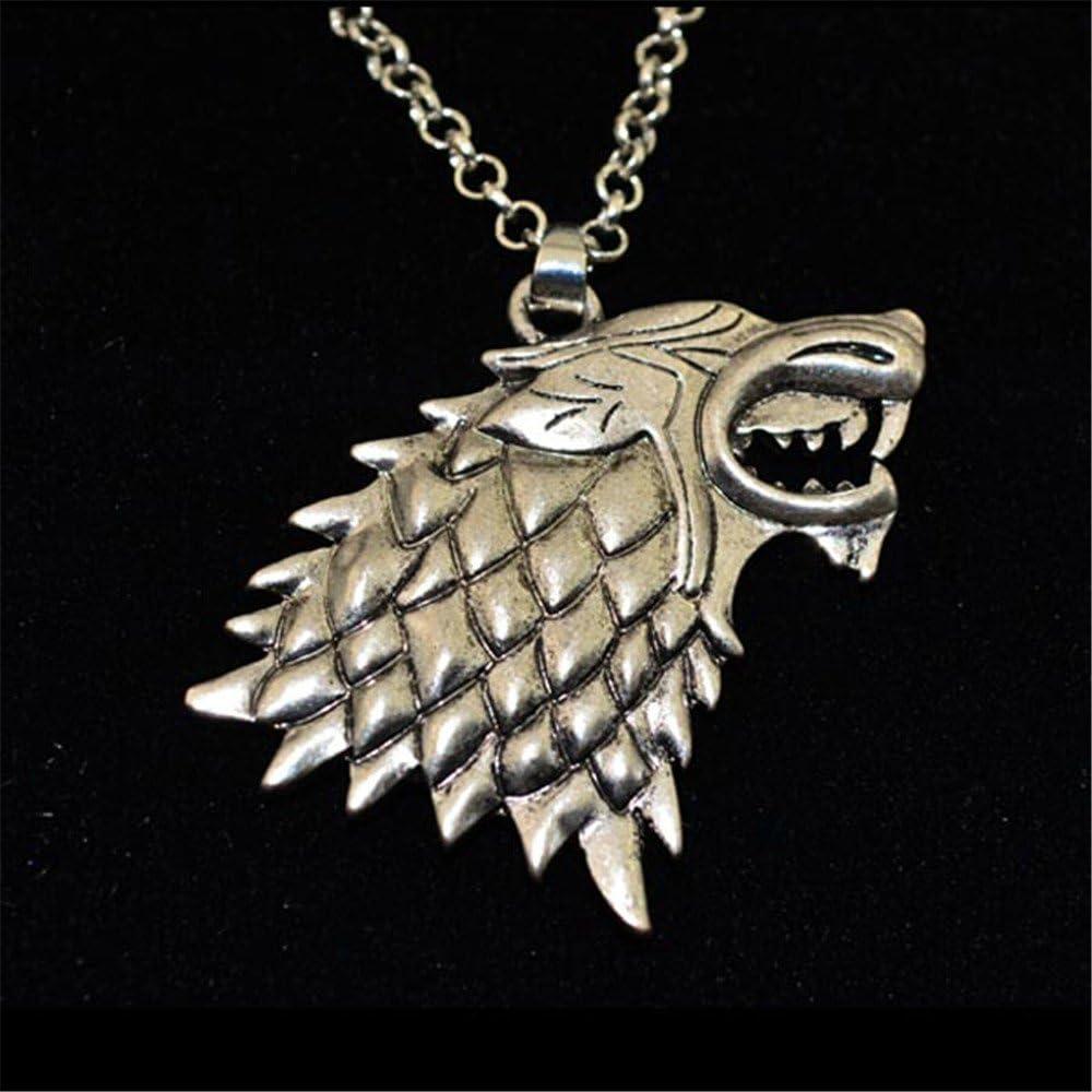 Handmade Game of Thrones Brass House Stark Direwolf Pendant