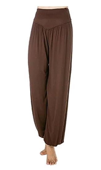 Leisial Pantalones De Yoga Algodon Suave Piernas Pantalones Anchos Solido Color Elastico Pretina Pantalones Bombachos De Fitness Bailan Deportivo Para Mujeres Blanco Talla L Pantalones Cortos Deportivos