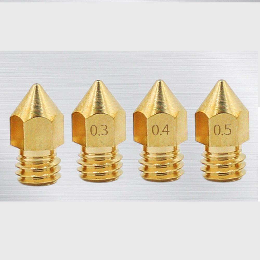 Boquillas de latón para impresora 3D, 0,2 mm, 0,3 mm, 0,4 mm ...