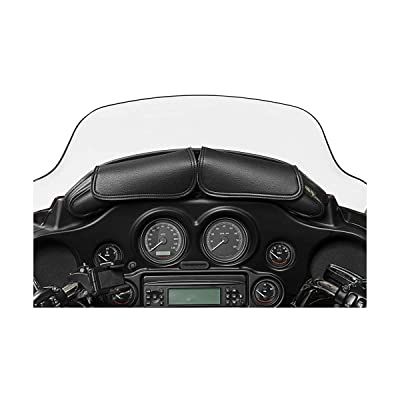 Dowco Willie & Max 04725 Two Pouch Synthetic Leather Motorcycle Windshield Bag: Black, 5 Liter Capacity: Automotive