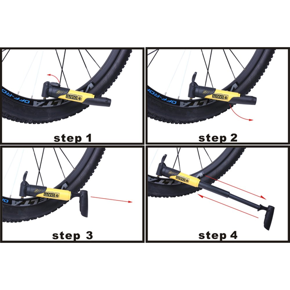 Explopur Mini Bomba de Aire de Bicicleta de pl/ástico port/átil Neum/ático de Bicicleta Accesorios s/úper Ligeros MTB Road Bike Cycling Pump
