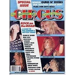 Circus Magazine SKID ROW Guns N' Roses CINDERELLA Poison SEBASTIAN BACH CENTERFOLD Tom Keifer AXL ROSE Bon Jovi METALLICA June 30, 1989 C (Circus Magazine)