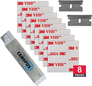 3M VHB Adhesive Pads, Double Sided Adhesive Mounting Squares, Converted from 3M VHB RP25 Foam Tape, 8 Pack (1.5 in x 1.5 in)