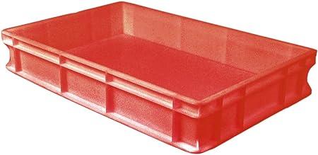 Genus Dei - Caja de polietileno para uso alimentario, 60 x 40 cm, apilable, profesional, para pizza, masa, pan y pasta: Amazon.es: Hogar
