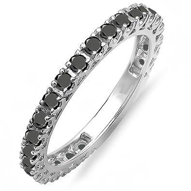 Amazoncom 100 Carat ctw 14K White Gold Round Black Diamond