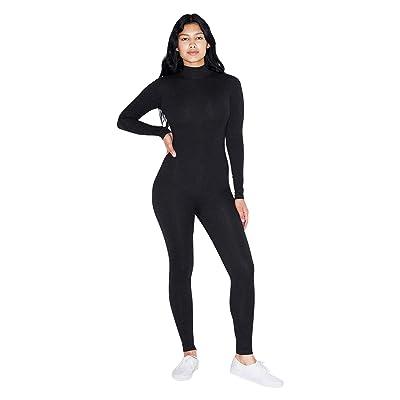 American Apparel Women's Cotton Spandex Long Sleeve Turtleneck Catsuit: Clothing