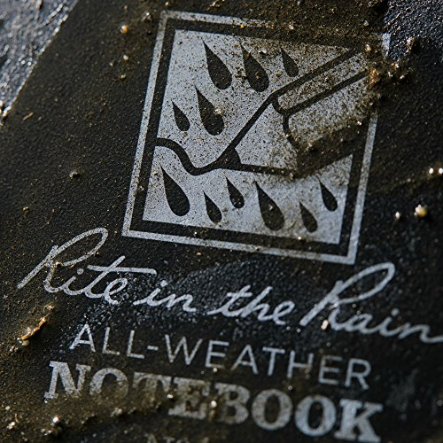Rite in the Rain Weatherproof Top-Spiral Notebook, 3'' x 5'', Black Cover, Universal Pattern (No. 735) by Rite In The Rain (Image #2)
