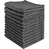 Utopia Towels Premium Washcloths Towel Set (12 Pack, Grey, 12x12 Inches) Multi-purpose Extra Soft Fingertip towels, Highly Absorbent Face Cloths, Machine Washable Sport, and Workout Towels