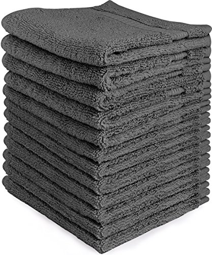 Hemmed Sport Towel (Utopia Towels Premium 700 GSM Washcloths Towel Set (12 Pack, Grey, 12x12 Inches) Multi-purpose Extra Soft Fingertip towels, Highly Absorbent Face Cloths, Machine Washable Sport, and Workout Towels)