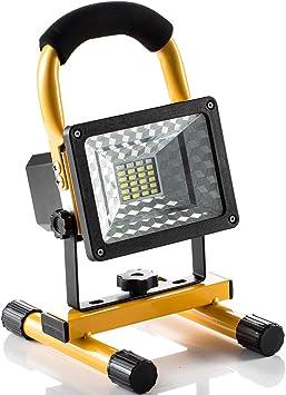 Foco LED Proyector, Lámpara Camping 15W, Foco LED Reflector para ...
