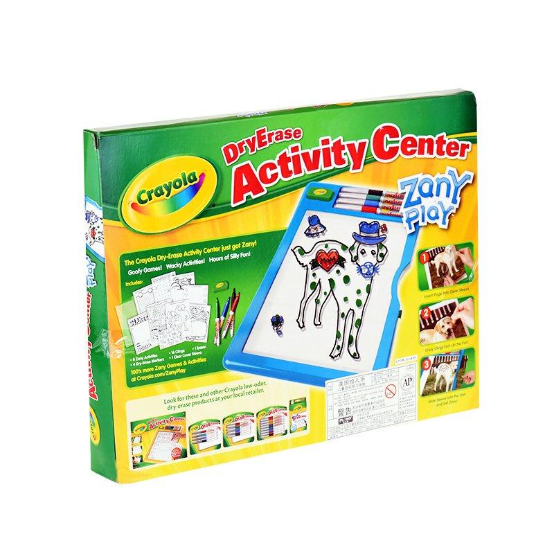 Amazon.com: Crayola Dry-Erase Activity Center Zany Play Edition ...
