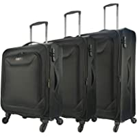 Eaglemate 3pc Luggage Set Suitcase Trolley Carry On Soft Lightweight Luggage Set