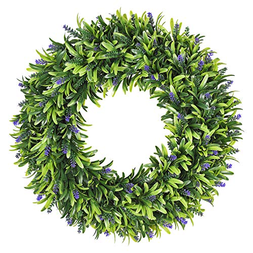 (Lvydec Artificial Lavender Wreath, 16