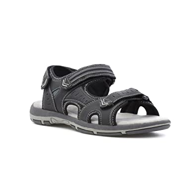 SPROX Mens Black Wider Fitting Touch Fasten Sandal - Talla 40 - Negro NGr137pA