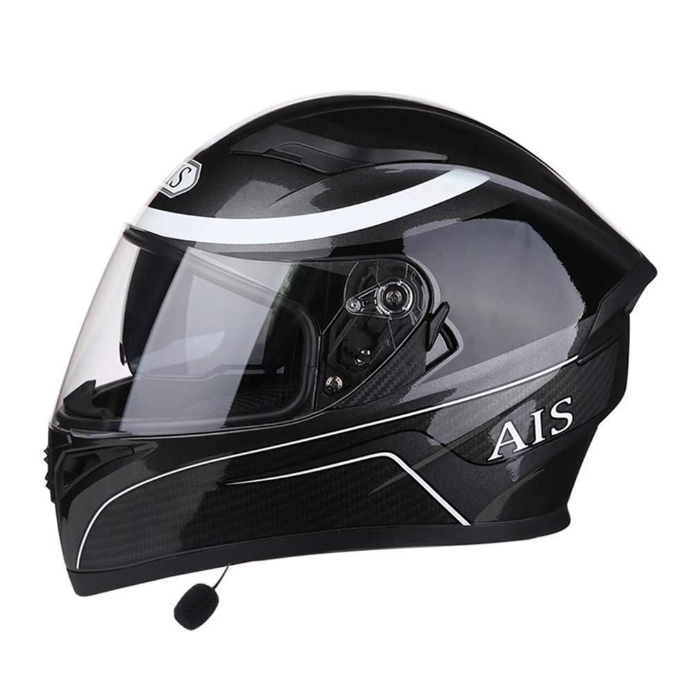 ZXF オートバイの四季のBluetoothヘッドセットフルフェイスヘルメットダブルレンズ人格通気性の安全ヘルメット透明レンズ 安全 (色 : Bluetooth earphone, Size : XXXL) XXXL Bluetooth earphone B07TCBJ7ZJ