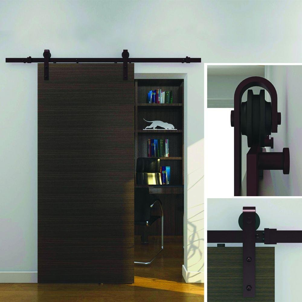 Wall mount sliding door hardware set - Everbilt Dark Oil Rubbed Bronze Steel Decorative Sliding Door Hardware Amazon Com