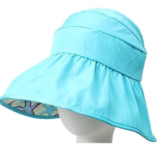 34e24e3b3e Aksautoparts Girls Cotton hat Baby Caps Summer Beachwear Hat Sun Hat (Blue)