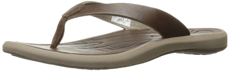 Columbia Women's Caprizee Leather Flip Athletic Sandal B01HEI40TC 6 B(M) US|Tobacco/Cordovan