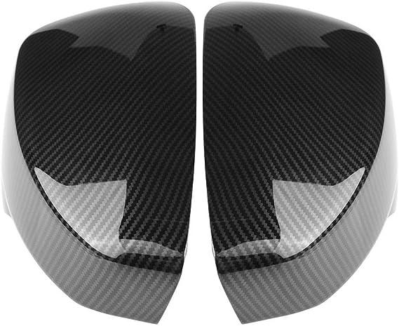 Outbit Auto Spiegelkappe 1 Paar Auto Spiegelkappen Seitentürspiegelabdeckung Für Eclipse Cross 2017 2018 Farbe Carbon Fiber Black Garten
