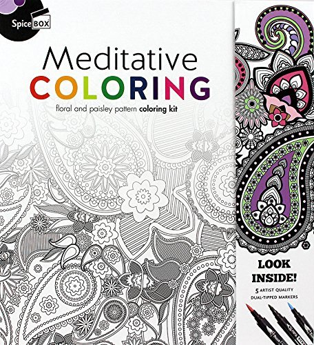 Spice Box Meditative Coloring 50 Anti Stress Pages By