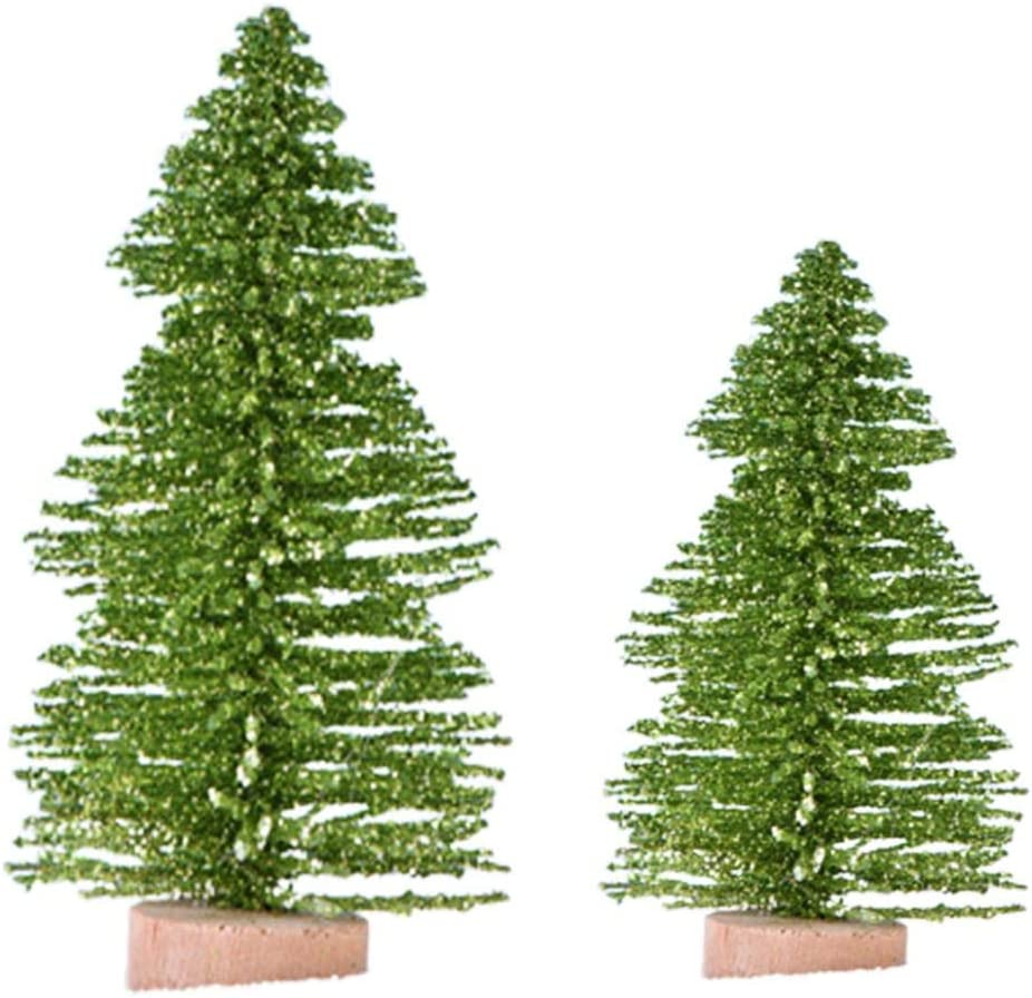 discountstore149 Miniature Garden Ornaments Miniature Figurines Fake Pine Tree Model Doll House Fairy Garden Decoration Micro Landscape Home Decor