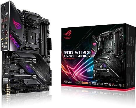 Amazon Com Asus Rog Strix X570 E Gaming Atx Motherboard With Pcie 4 0 Aura Sync Rgb Lighting 2 5 Gbps And Intel Gigabit Lan Wifi 6 802 11ax Dual M 2 With Heatsinks Sata 6gb S And Usb