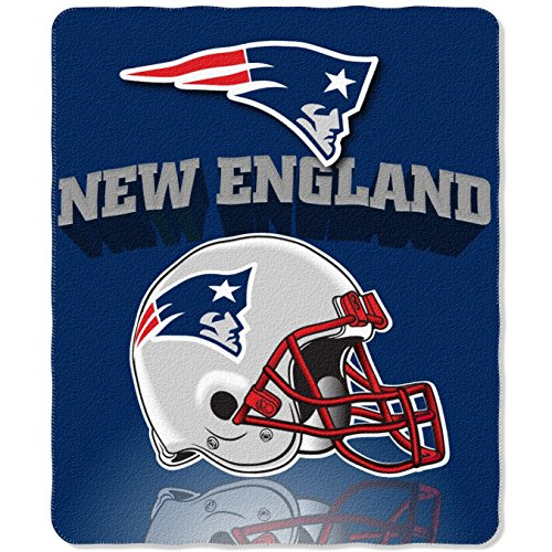 The Northwest Company NFL New England Patriots Gridiron Fleece Throw, 50 x 60-inches (England New Patriots Blanket Fleece)