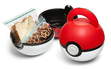 aa0eec7f5d Amazon.com  ThinkGeek Pokemon Poké Ball Lunch Box  Kitchen   Dining