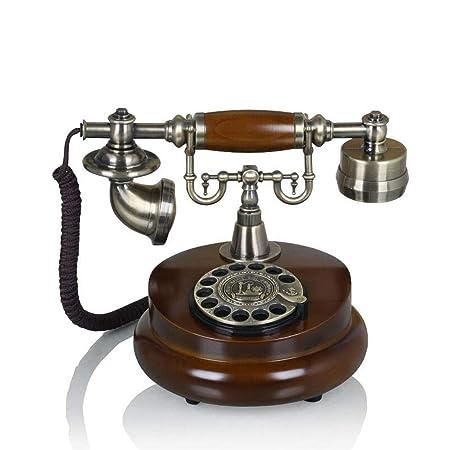 Teléfono Liuyu · Living Home Marrón Retro Phone Metal ...