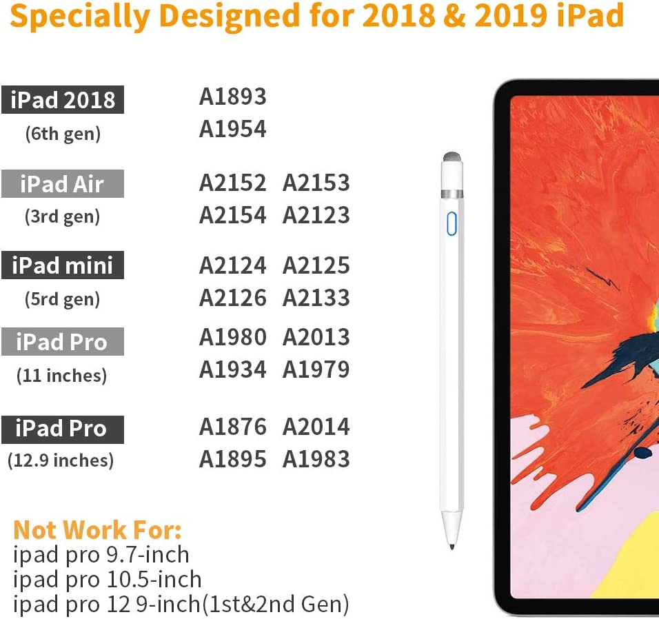 Stylus Pen 2nd Gen with Palm Rejection iPad Mini iPad Pro 11//12.9 Inch iSkey High Precise Stylus Pen for Writing /& Drawing Compatible with iPad // 3rd Gen 6th Gen 5th Gen 7th Gen iPad Air