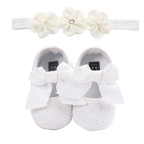 ba9b57786 Zapatos para Bebé y Diadema de Flores 0-18 Mes K-youth Unisex Zapatos
