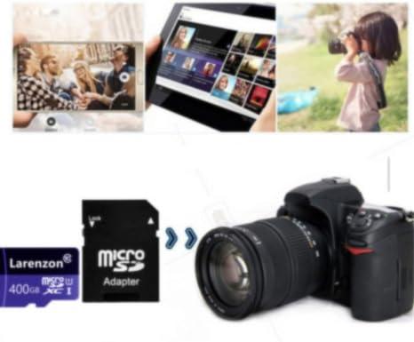 Larenzon Micro SD Tarjeta 400 GB, microSDXC 400 GB Class 10 ...