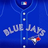 """Sports and Tailgating MLB Party Toronto Blue Jays Luncheon Napkins Tableware, Paper, 6"""" x 6"""", Pack of 36"""