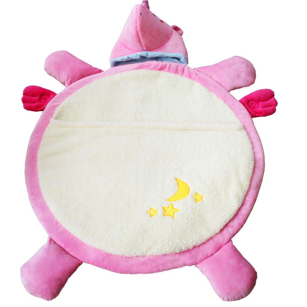Unicorn Baby Crawling Mat Non Toxic Baby Crawling Pad Unicorn Doll Sleeping Mat Floor Rug Soft Blanket Play Cushion (Unicorn pink)