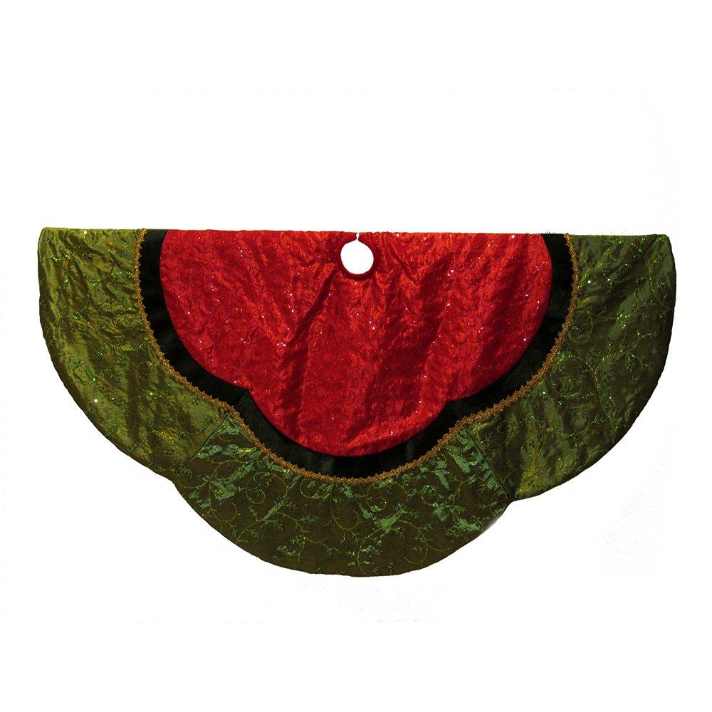 Kurt Adler 60'' Red and Green Treeskirt