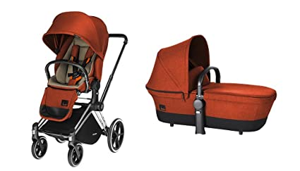 Duo Cybex Priam Autumn Gold con Seat Lux + Carry Cot + Frame Chrome and Wheels