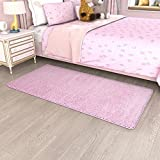 Lifewit 32'' x 63'' Area Rug Living Room Carpet Bedroom Runner Rug Ultra Soft for Chilldren Thick Fluffy Comfy Shag for Kids, Pink