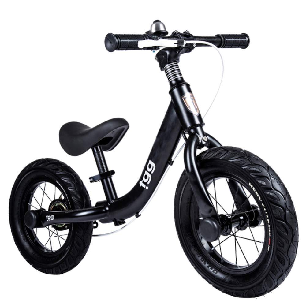 """CHRISTMAD 12""""Kinderkindbalance-Fahrrad-Roller-Baby-Wanderer-Roller Justierbare Höhe Mit Schutzausrüstung 2-3-5 Jahre Alt 90-120cm,12"""" schwarz"""