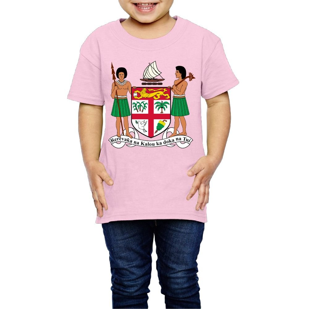 Tghhujffcbjj Girls Coat Of Arms Of Fiji Tshirts Perfect Gift To Kids Or Parents Pink 5-6 Toddler