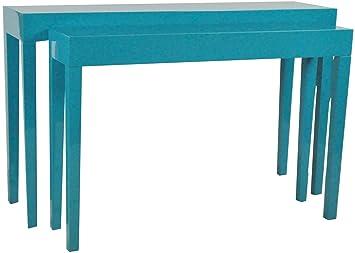 elbmöbel 2er Tisch Set Beistelltisch Konsole Lacktisch aus ...