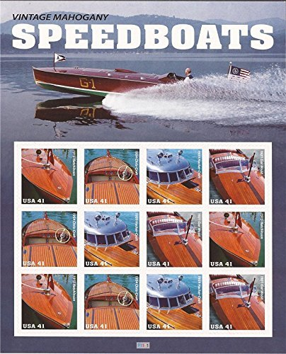US Stamp - 2007 Vintage Speedboats - 12 Stamp Sheet - Scott #4160-3 by USPS - 12 Stamp Mint Sheet