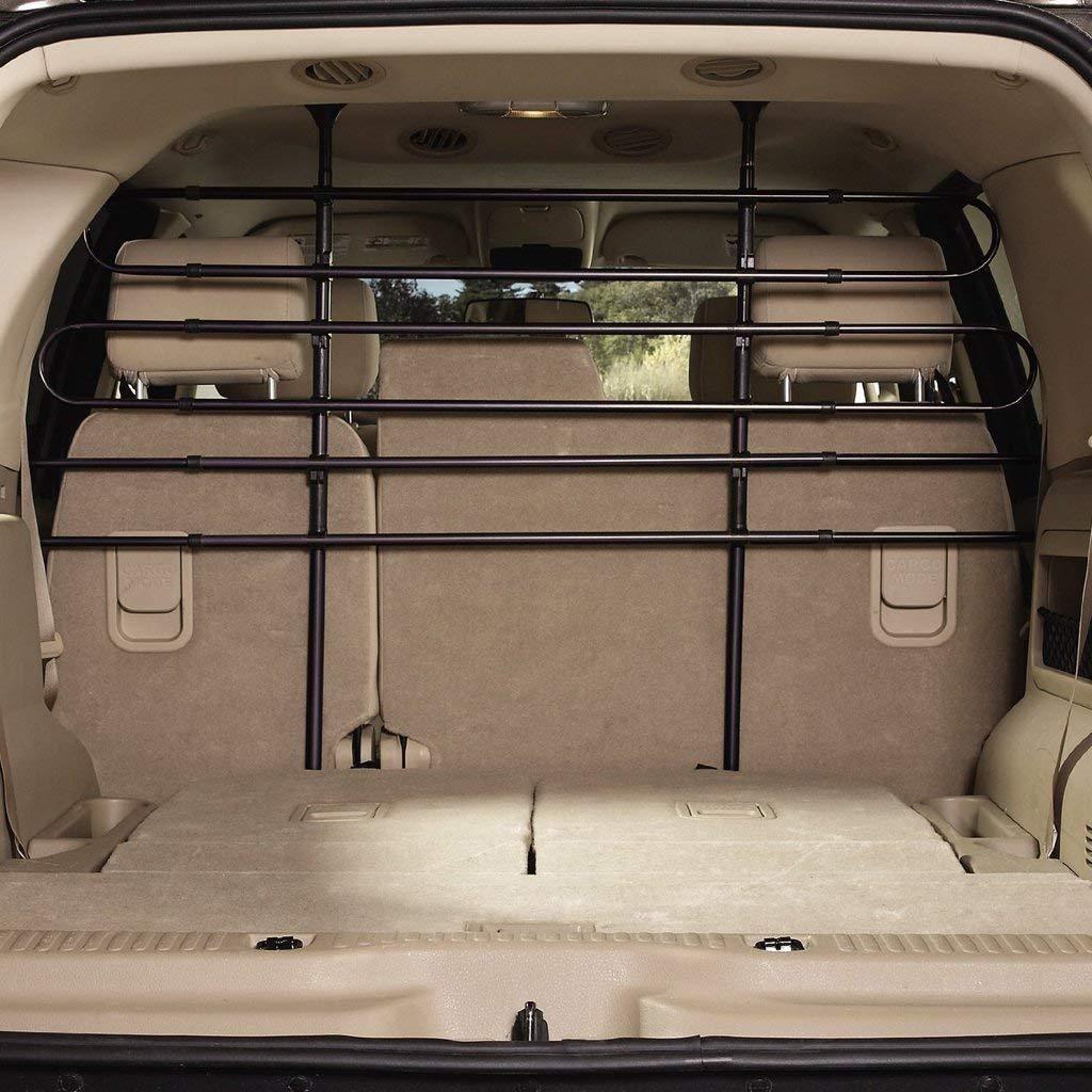 EXPAWLORER Car Barrier for Dogs - Adjustable Dog Car Trunk Barrier Pet Safety for Vehicle SUV, Black