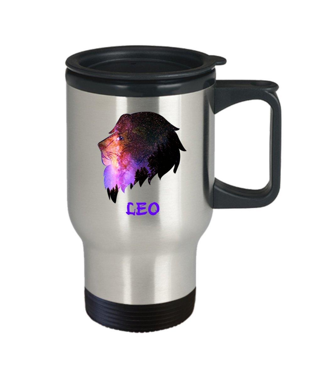 Amazon.com: Leo café taza de viaje – León – signo del ...
