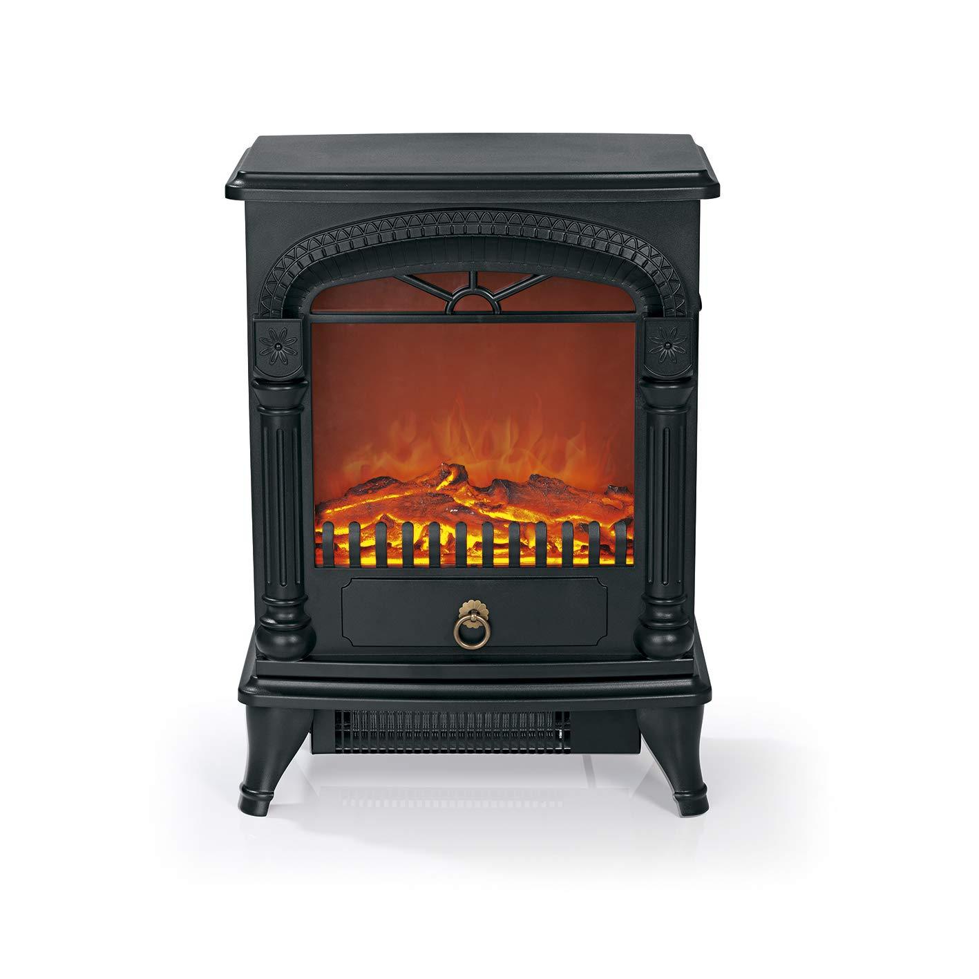 easymaxx 03908 elé ctrico de chimenea | realista efecto llama con 2 niveles de calor, 1950 W 1950W DS-Produkte