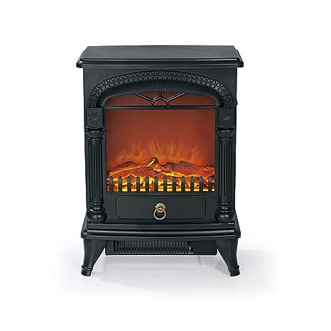 easymaxx 03908 eléctrico de chimenea | realista efecto llama con 2 niveles de calor, 1950