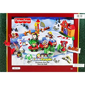 Amazon.com: Fisher Price Little People Christmas Train Set: Toys ...