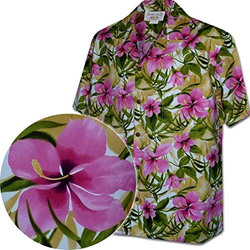 Pacific Legend Hibiscus Garden Hawaiian Shirts for Mens