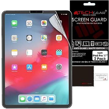 reputable site 9a387 4943e TECHGEAR [2 Pack] Anti-Glare Screen Protectors for iPad Pro 11