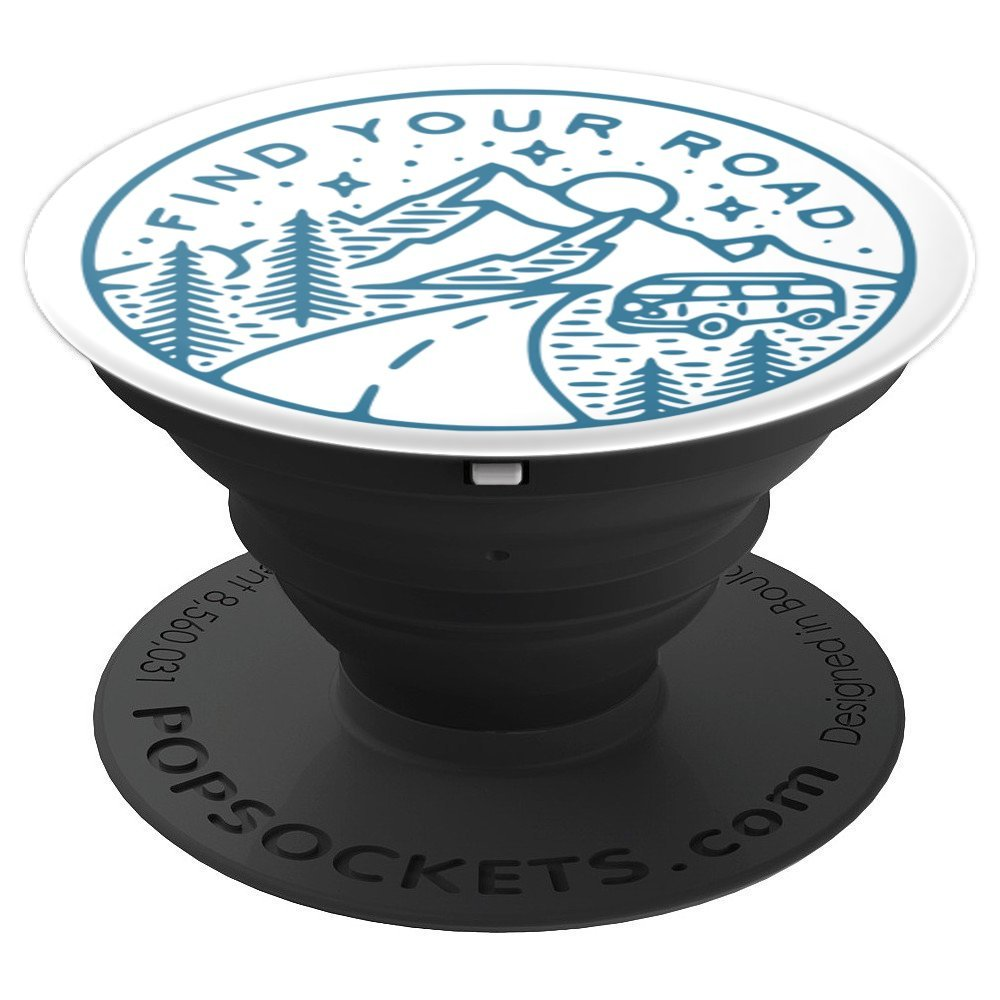 Find Your Road Mountain Travel Adventure with a Van - PopSockets Grip and Stand for Phones and Tablets