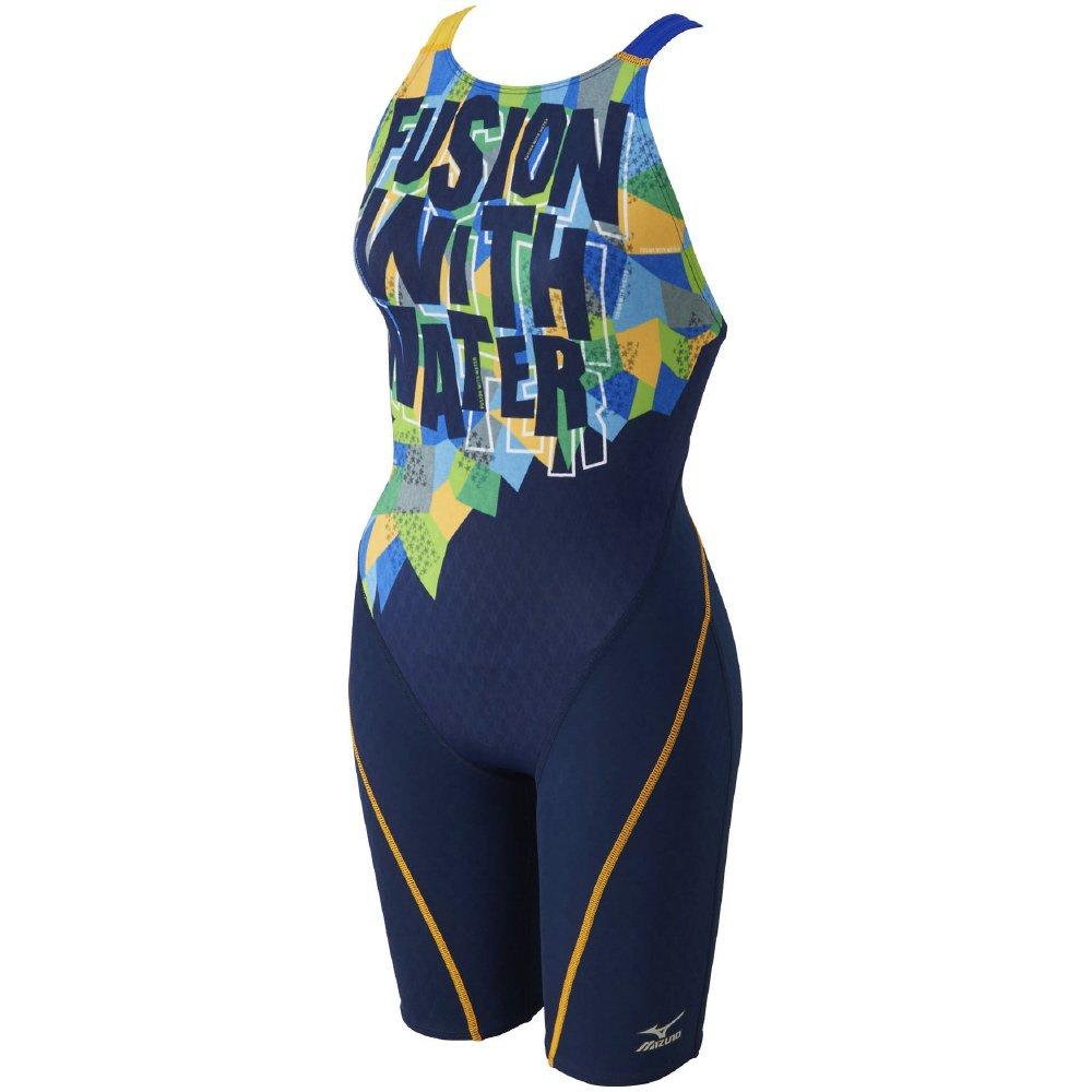 MIZUNO(ミズノ) 競泳水着 レディース ストリームアクティバ ハーフスーツ (オープン) FINA承認 N2MG7744 B001J2H7QS XL 83:ネイビー×イエロー 83:ネイビー×イエロー XL